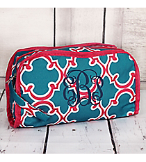Blue and Pink Moroccan Travel Bag #CB12-708-BL