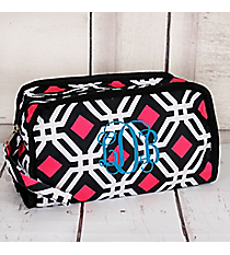 Black and Pink Diamond Daze Travel Bag #CB12-709-BK
