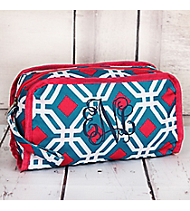 Blue and Pink Diamond Daze Travel Bag #CB12-709-BL