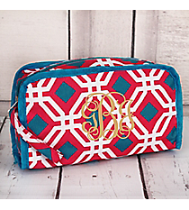 Pink and Blue Diamond Daze Travel Bag #CB12-709-P