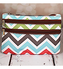 Multi-Color Chevron Travel Pouch #CB2-1323