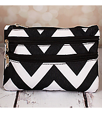 Black and White Chevron Travel Pouch #CB2-1324