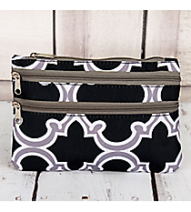 Black and Gray Moroccan Travel Pouch #CB2-708-BK