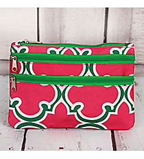Pink and Green Moroccan Travel Pouch #CB2-708-P