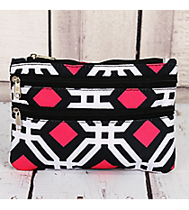 Black and Pink Diamond Daze Travel Pouch #CB2-709-BK