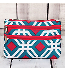 Blue and Pink Diamond Daze Travel Pouch #CB2-709-BL