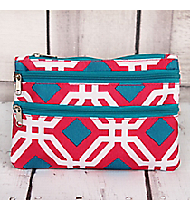 Pink and Blue Diamond Daze Travel Pouch #CB2-709-P