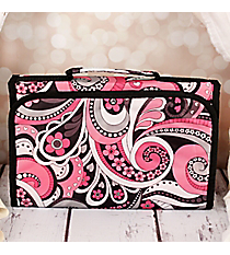 Flower Swirl Small Roll Up Jewelry Bag #CB50-1005