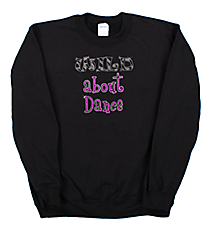 "Sparkling ""Wild About Dance"" Heavy-weight Crew Sweatshirt 6.5"" x 7"" Design CD08 *Personalize Your Colors"