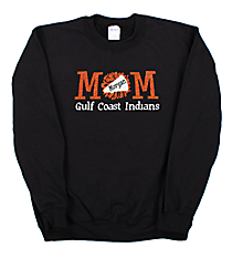 "Glittering ""Cheer Mom"" Heavy-weight Crew Sweatshirt 9 x 4 Design CD09 *Personalize Your  Colors"