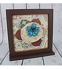 "12"" x 11.75"" Wooden Flower Tabletop Decor #CFEM0179"