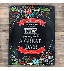 'Today is Going to be a Great Day!' Adult Coloring Book #CLR001