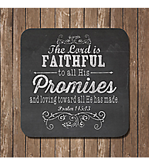 Set of 6 'Promises, Love, and My Cup' Chalkboard Coasters #COA006