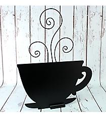 """24"""" x 19"""" Coffee Cup Shaped Chalkboard #CSEK1055"""