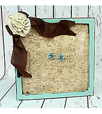 "18"" x 18"" Vintage Damask Wall Memo Board with Magnets #CSEM0009"