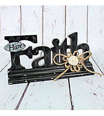 """5.5"""" x 11.25"""" Wooden """"Faith"""" Tabletop Decor #CSET0574"""