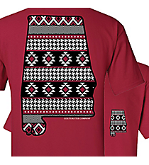 Aztec Houndstooth Alabama Cardinal T-Shirt *Choose Your Size