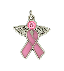 36 Pink Ribbon Angel Charms #68/45831