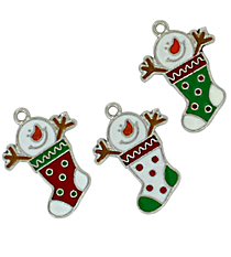 12 Snowman Stocking Charms #68/46176