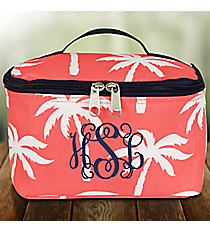 Coral Paradise Palms Case with Navy Trim #YAO277-CORAL