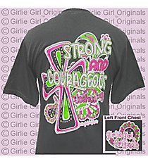 """Strong and Courageous"" Charcoal T-Shirt *Choose Your Size"