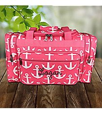 """20"""" Pink with White Anchors Duffle Bag #DDT420-PINK"""