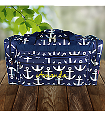 """23"""" Navy with White Anchors Duffle Bag #DDT423-NAVY"""