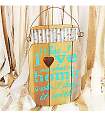 18 x 11 3/4 'What I Love Most About My Home' Mason Jar Shaped Wall Hanging #DFEW0055