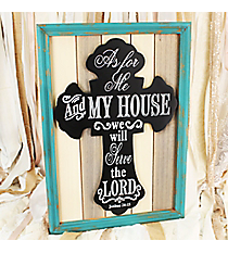 24.75 x 17.5 Joshua 24:15 Cross Wall Decor #DFEY0064