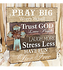20.75 x 19.5 Inspirational Phrases Cross Wall Decor #DFEY0070