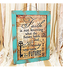 21.5 x 16.25 Vintage 'Faith' Key Wall Decor #DFEY0095