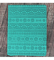 Turquoise Large Zip 2015 Planner #DPW117