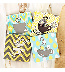 One 4 x 4 Coffee Cup Print Coaster #DSEM0064-SHIPS ASSORTED