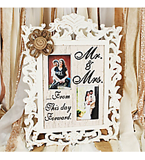 20.5 x 15.25 Mr. & Mrs. Two 4x6 Photo Frame Wall Hanging #DSER0070