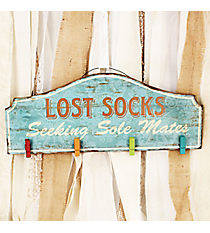 7.75 x 19 'Lost Socks Seeking Sole Mates' Photo/Card Wall Display #DSEW4001