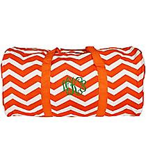 """Orange and White Chevron 22"""" Duffle Bag #1022-165-OR/W"""