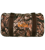 "14"" BNB Natural Camo Quilted Duffle Bag with Brown Trim #SNQ8080-BROWN"