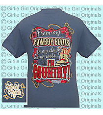 """I'm Country"" Indigo Blue T-Shirt *Choose Your Size"