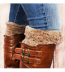 One Pair of Taupe Faux Fur Boot Cuffs #EABC4008-TP
