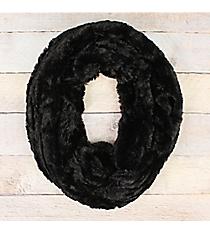 Black Fur Infinity Scarf #EAFR8157-BK