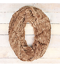 Taupe Faux Fur Infinity Scarf #EAFR8157-TP