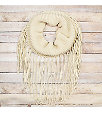 On The Fringe Ivory Tube Scarf #EANT8442-IV