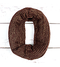 Two-Tone Brown Knit Infinity Tube Scarf #EANT8214-BR