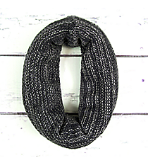 Two-Tone Grey Knit Infinity Tube Scarf #EANT8214-GE