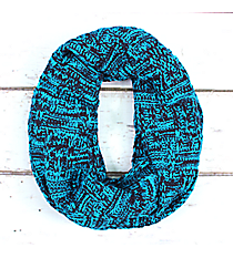 Blue and Navy Knit Infinity Scarf #EANT8218-BL
