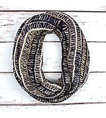 Navy Multi-Stripe Infinity Scarf #EANT8219-NV