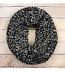 Black Ombre Knit Infinity Scarf #EANT8423-BK