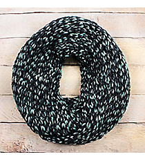 Navy Ombre Knit Infinity Scarf #EANT8423-NV