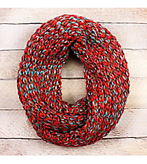 Red Ombre Knit Infinity Scarf #EANT8423-RDrf #EANT8423-NV