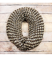 Taupe Ombre Knit Infinity Scarf #EANT8423-TP